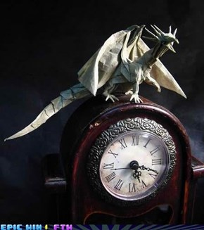 Paper Dragon Likes to Tell Time!