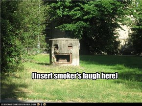 (Insert smoker's laugh here)