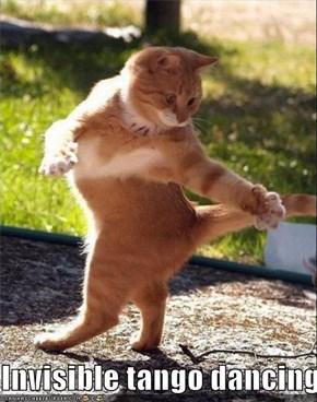 Invisible tango dancing