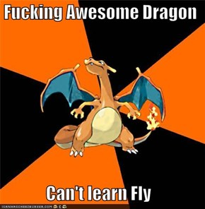 Fucking Awesome Dragon  Can't learn Fly