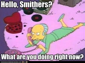 Hello, Smithers?