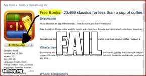 Free Book App FAIL