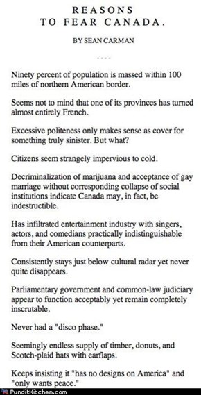 Reasons to Fear Canada