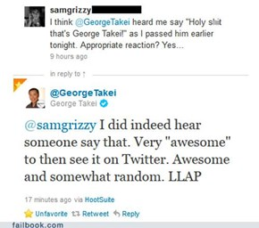 George Takei is Being Awesome... Again.
