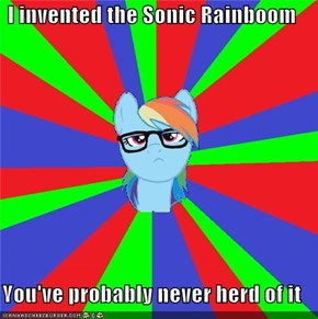 I invented the Sonic Rainboom  You've probably never herd of it