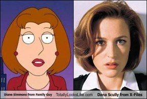 "TLL Classics: Diane Simmons from ""Family Guy"" Totally Looks Like Dana Scully from ""X-Files"""