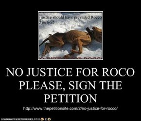NO JUSTICE FOR ROCO PLEASE, SIGN THE PETITION