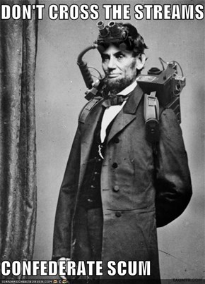Bustin' Makes Abe Feel Good