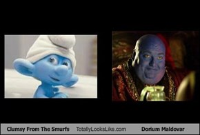 Clumsy From The Smurfs Totally Looks Like Dorium Maldovar
