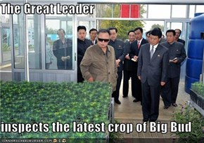 The Great Leader   inspects the latest crop of Big Bud