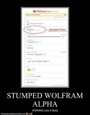 STUMPED WOLFRAM ALPHA