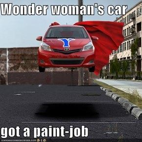 Wonder woman's car   got a paint-job