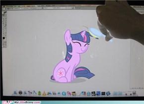 through the screen twilight sparkle