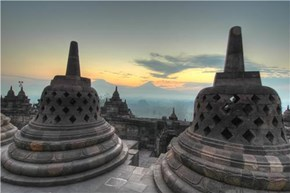 Borobudur Buddhist Monument, Central Java, Indonesia