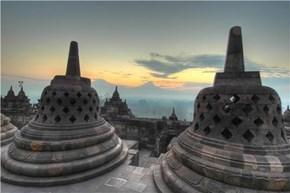 Borobudur Buddhist Monument, Central Java, Indonesia