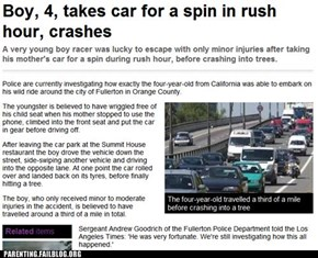 Public Parenting News: Wait Until Sunday, the Traffic's Lighter