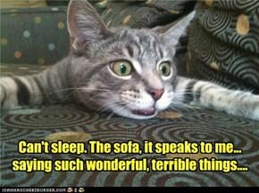 ...da sofa...