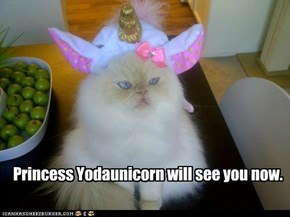 Princess Yodaunicorn will see you now.
