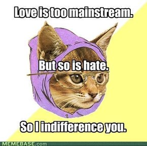 Hipster Kitty:  Love and Hate