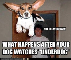 "WHAT HAPPENS AFTER YOUR DOG WATCHES ""UNDERDOG"""
