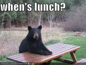 when's lunch?