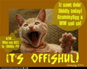 *snerk* Caturday is Nawt Do Diddly Day!! Enjoy doin' nuffin'!