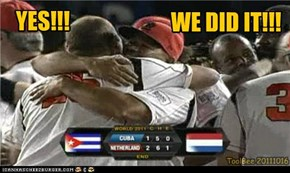 The Netherlands WORLD CHAMPIONS BASEBALL!!!