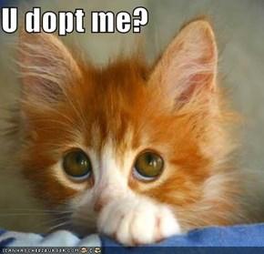 U dopt me?