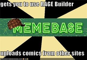 gets you to use RAGE Builder  uploads comics from other sites