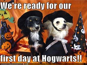 We're ready for our   first day at Hogwarts!!