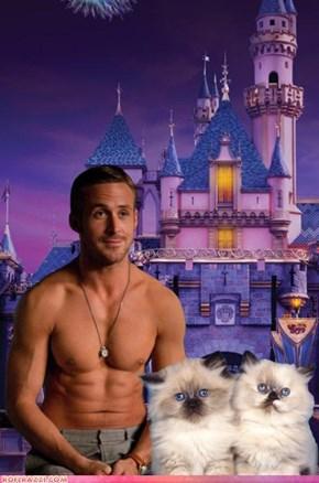 Ryan Gosling Disneyland Cats