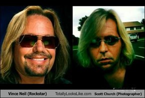 Vince Neil (Rockstar) Totally Looks Like Scott Church (Photographer)