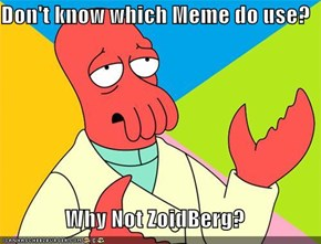 Don't know which Meme do use?  Why Not ZoidBerg?