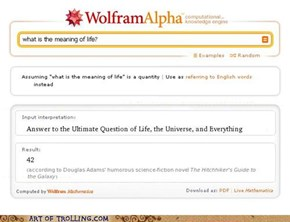 Wolfram knows the meaning of life