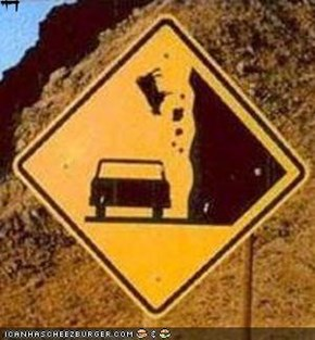 "Failblog ""Watch out for Falling COWS"""