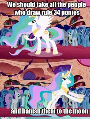 Pushing Celestia pushing rule34...