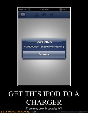 GET THIS IPOD TO A CHARGER