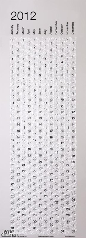 Bubble Wrap Calendar WIN