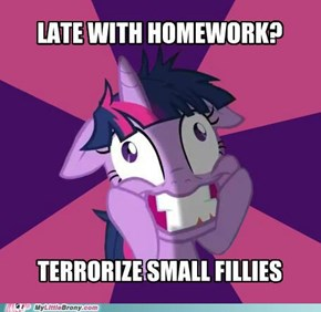 Twilight Snapple is a Good Student