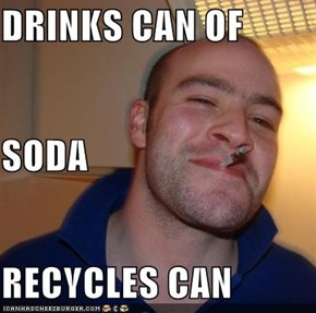 DRINKS CAN OF  SODA RECYCLES CAN