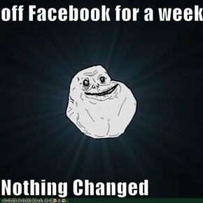 off Facebook for a week  Nothing Changed