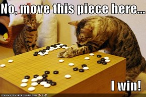 No, move this piece here...  I win!