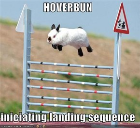 HOVERBUN  iniciating landing sequence