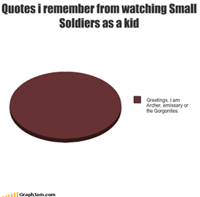 Quotes i remember from watching Small Soldiers as a kid