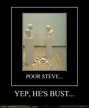 YEP, HE'S BUST...