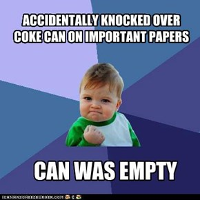 SUCCESS KID: COKE CAN