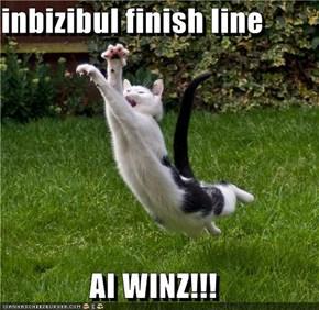 inbizibul finish line  AI WINZ!!!