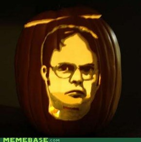 Meme pumkin carving