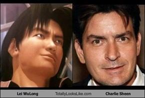 Lei WuLong Totally Looks Like Charlie Sheen