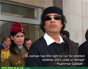 Qaddafi Quotes: Election